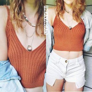 Rachel's Rusty Rivers Cropped Sweater Tank Top! ♡♡